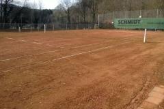 Tennis Frühjahrsrenovierung 2015